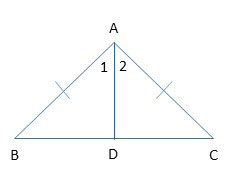 Example 1 of proving that two triangles are congruent.