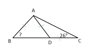 isosceles triangles example.